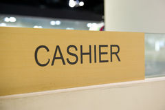 Cashier sign Stock Image
