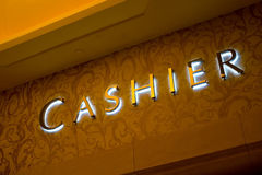 Cashier sign Royalty Free Stock Photo