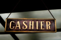 Cashier sign - label Royalty Free Stock Photo