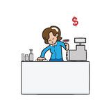 Cashier spermarket Stock Photos