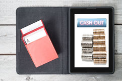 Cashing out. Online gambling concept Stock Photo