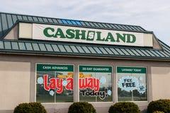 Cashland kleinhandelsplaats Cashland verstrekt kasvoorschotten en leningen op korte termijn I royalty-vrije stock foto's