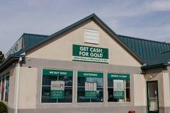 Cashland kleinhandelsplaats Cashland verstrekt kasvoorschotten en leningen op korte termijn II royalty-vrije stock afbeeldingen