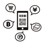 Cashless en Smartphone-betalingsbeeld vector illustratie