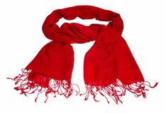 Cashmere scarf on white background Royalty Free Stock Images