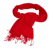 Cashmere scarf on white background Stock Photography