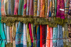 Cashmere scarves. Background. Royalty Free Stock Image