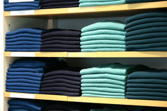 Cashmere sweaters in clothing store. Stock Images