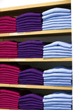 Cashmere sweaters in clothing store. Stock Image