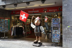 Casi Boy the mascot in Lucerne Stock Images