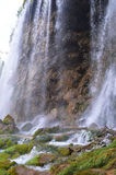 Casi cascada i Croacia de Plitvice Foto de archivo