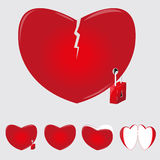 Casi di cuore Immagine Stock Libera da Diritti