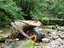 casi di inquinamento della natura nella regione di Ostschweiz fotografia stock libera da diritti