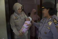 CASI DI VIOLAZIONE DEI DIRITTI DEI BAMBINI DELL'INDONESIA Fotografia Stock