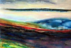 Casi pintura de paisaje abstracta fotografía de archivo libre de regalías