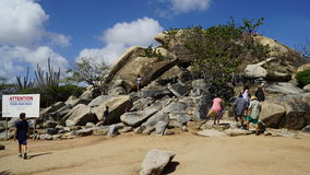 Casibari Rock Formation in Aruba Stock Images