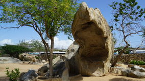 Casibari Rock Formation in Aruba Stock Photos