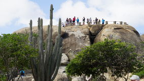 Casibari Rock Formation in Aruba Royalty Free Stock Photo