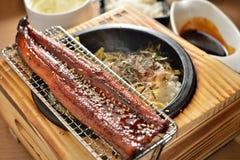 Casier chaud de poissons d'anguille image stock