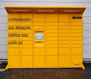 Casier d'Amazone à Lyon, chute de neige de Frances Images libres de droits