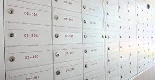 Casier de boîte aux lettres photo stock