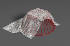 Casier métallique avec le tissu de dentelle Photo libre de droits