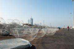 Casiers de pêche traditionnels Photo stock