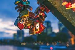 Casiers sur le pont photos stock