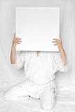 Casilla blanca foto de archivo libre de regalías