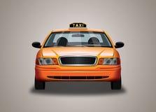 Casilla de taxi amarilla Imagenes de archivo