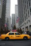Casilla de taxi de Nueva York Imagenes de archivo