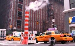 Casillas amarillas en New York City fotografía de archivo libre de regalías