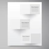 Casillas blancas del vector. Backround abstracto
