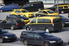 Casillas de taxi foto de archivo