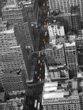 Casillas de taxi amarillas de Nueva York foto de archivo