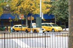 Casillas de taxi de Nueva York Foto de archivo libre de regalías