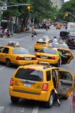 Casillas de taxi de Nueva York foto de archivo