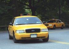 Casillas de taxi de NYC Imagen de archivo libre de regalías