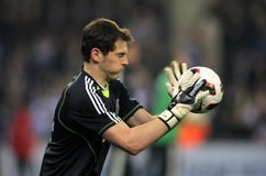 Casillas of Real Madrid. During a spanish league match between Espanyol and Real Madrid at the Estadi Cornella on February 13, 2011 in Barcelona, Spain stock image