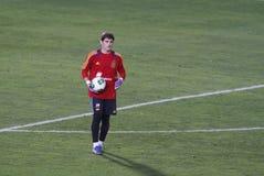 Casillas 005. Spain national soccer team goalkeeper Iker Casillas seen during a training session stock image