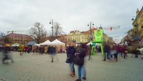 Casimir spring fair on March 06, 2015 in Vilnius. stock footage
