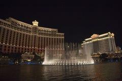 Casinò dell'hotel di Las Vegas Bellagio, descritto con il suo di fama mondiale Fotografia Stock Libera da Diritti