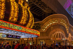 Casinò dorato delle pepite ad esperienza della via di Fremont, Las Vegas, Nevada Fotografia Stock