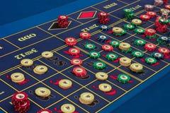 Casinò - tabella americana delle roulette Fotografie Stock Libere da Diritti