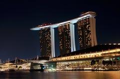 Casinò dorato delle sabbie di Singapore Immagini Stock Libere da Diritti