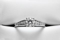 casing zaręczynowy skóry pierścionek obrazy stock