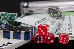 Casino à la maison Photographie stock