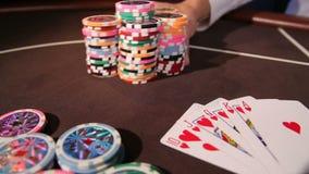 casino Τοποθέτηση του στοιχήματος απόθεμα βίντεο