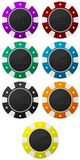 Casino. Chips set. Different colors. Different values Royalty Free Stock Photos