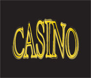 Casino. Table sign Stock Photography